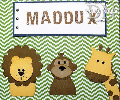 Fabulous Name Frame For Baby Maddux Art Case Punch Art Name Frame