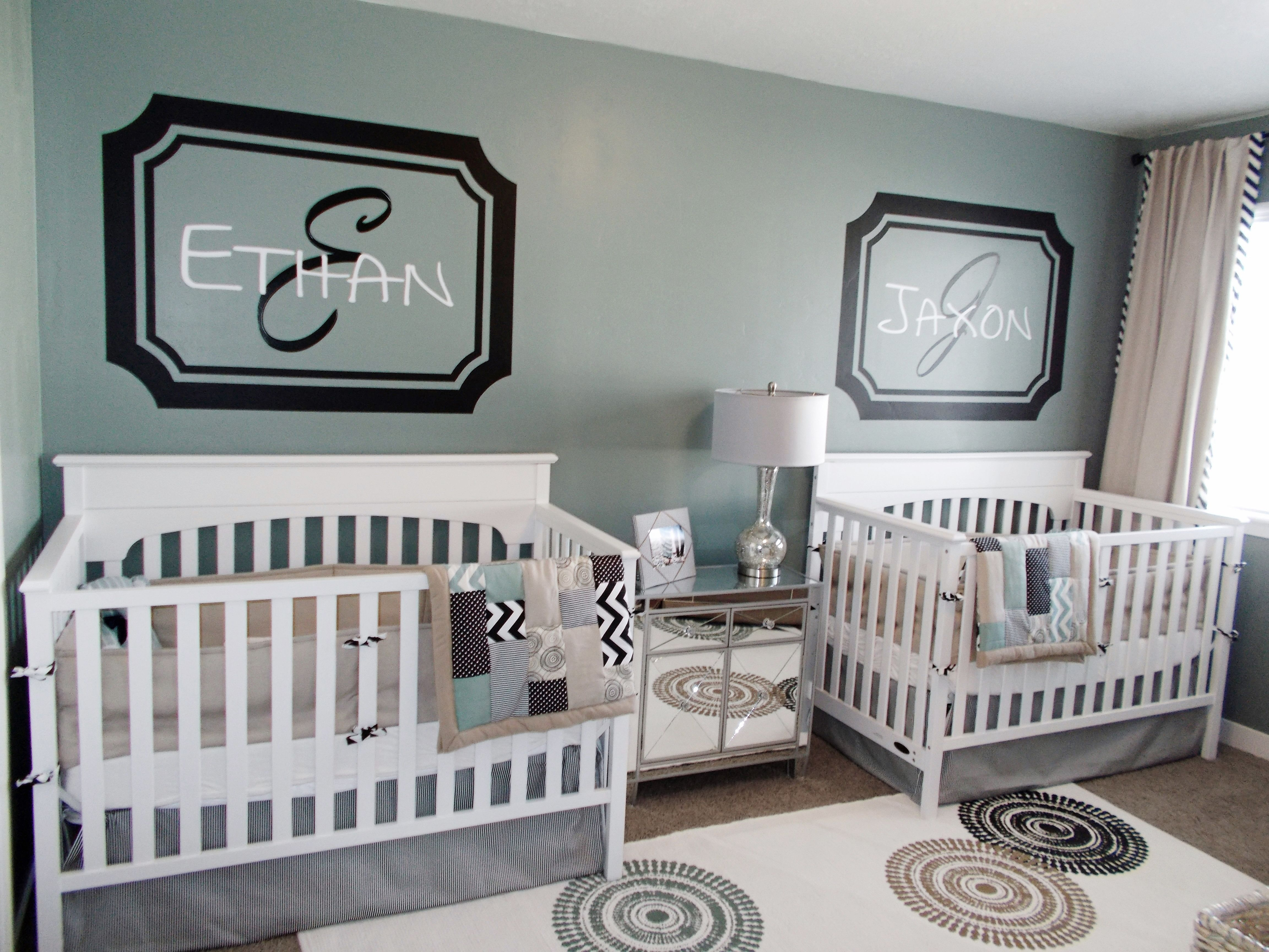 DIY Twins Nursery Twin baby rooms, Nursery twins, Baby