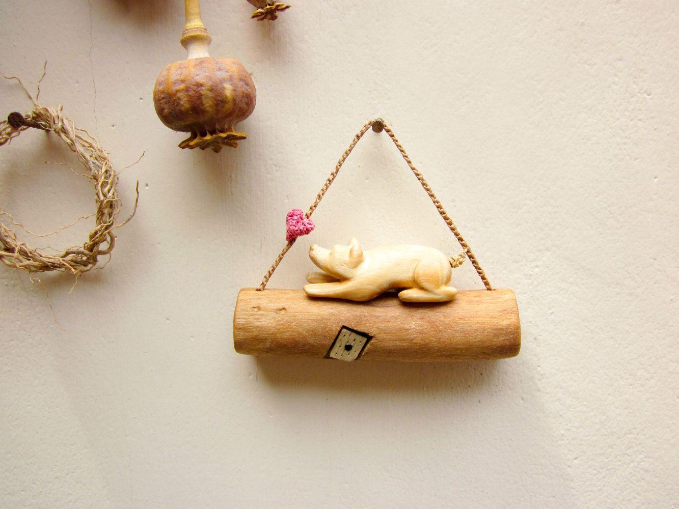 I love my dog wall hanging miniature wall art miniature sculpture