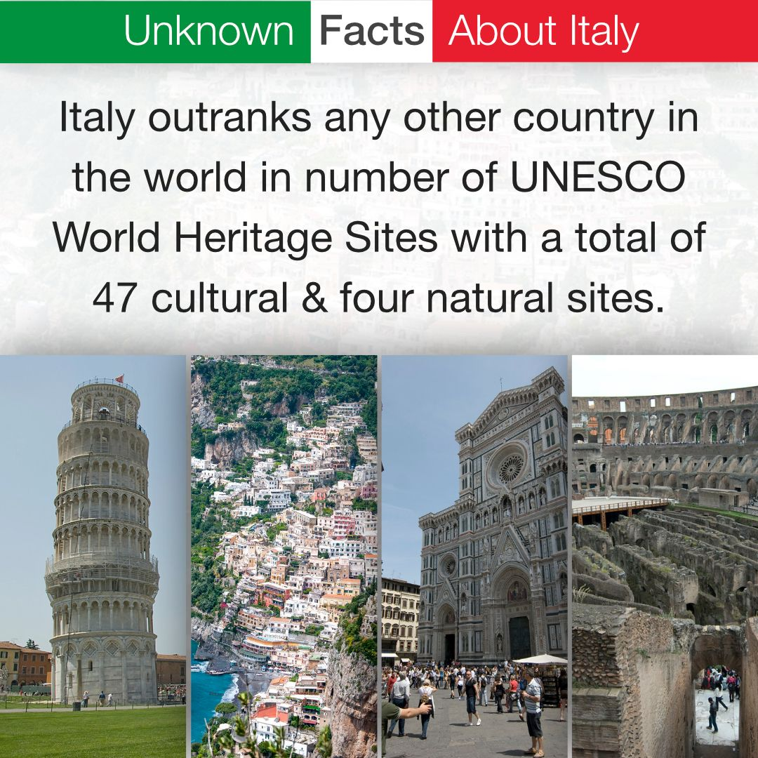 Italy Outranks Any Other Country In The World In Number Of Unesco World Heritage Sites Wi Unesco World Heritage Site World Heritage Sites Unesco World Heritage