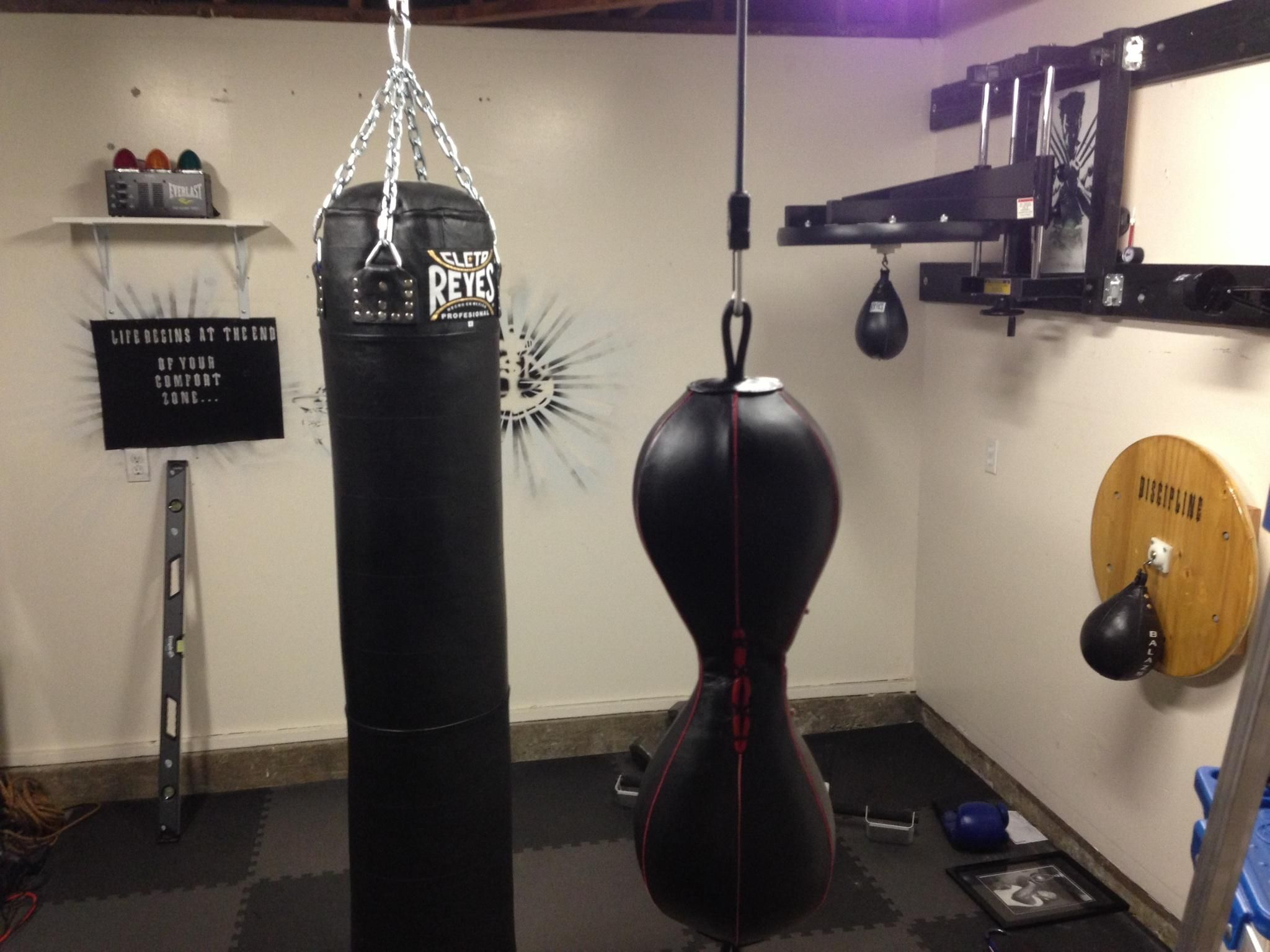 Converted of my garage into a boxing gym