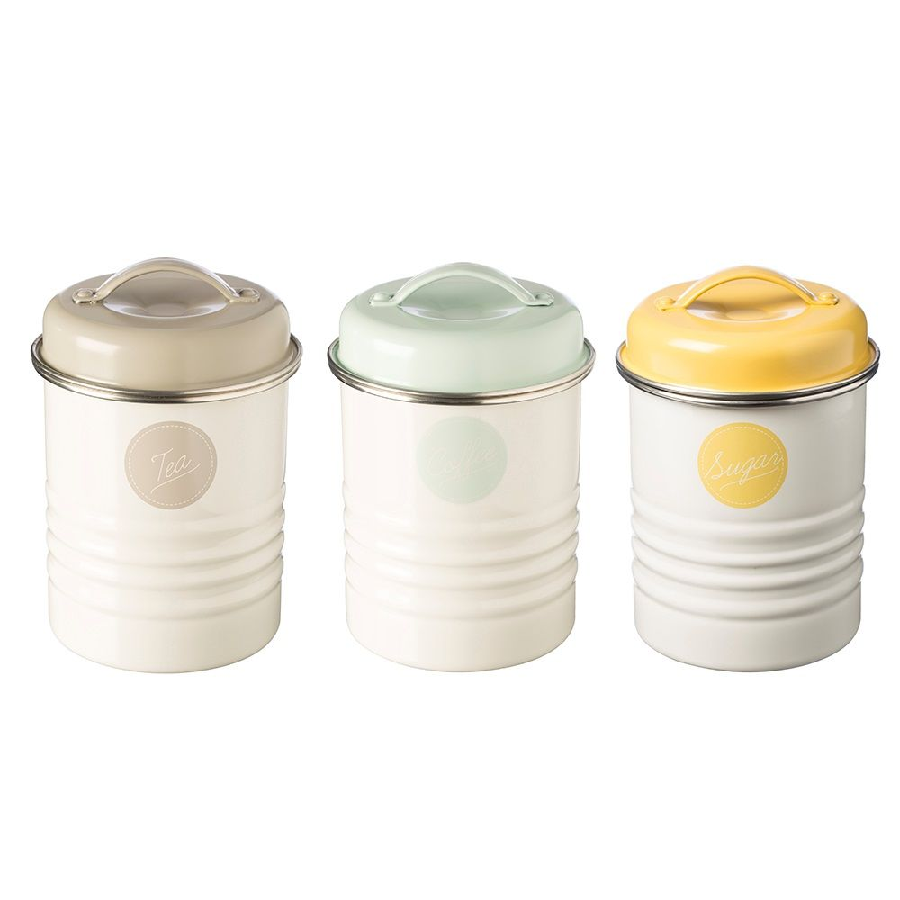 For Typhoon Vintage Americana Tea Coffee Sugar Canister Set Create A Style With Canisters