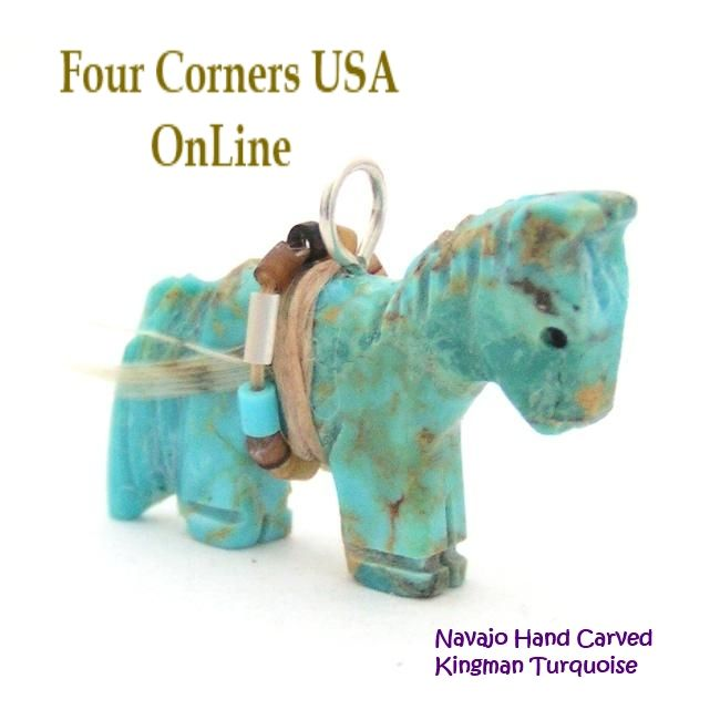 Four Corners USA Online - Carved Horse Kingman Turquoise Pendant NAM-1409 Native American Artisan Jeff Howe, $30.00 (http://stores.fourcornersusaonline.com/carved-horse-kingman-turquoise-pendant-nam-1409-native-american-artisan-jeff-howe/)