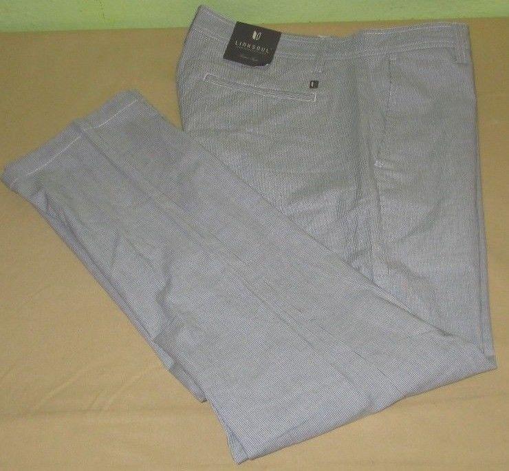 NEW Men's LINKSOUL  Flat Front  Golf Pants Sz 33 x 32 - Blue Stripe NWT #LinkSoul #DressFlatFront