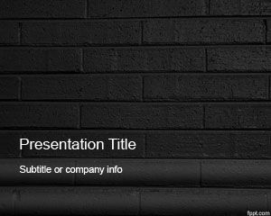 Dark Bricks Powerpoint Template Is A Dark Theme For
