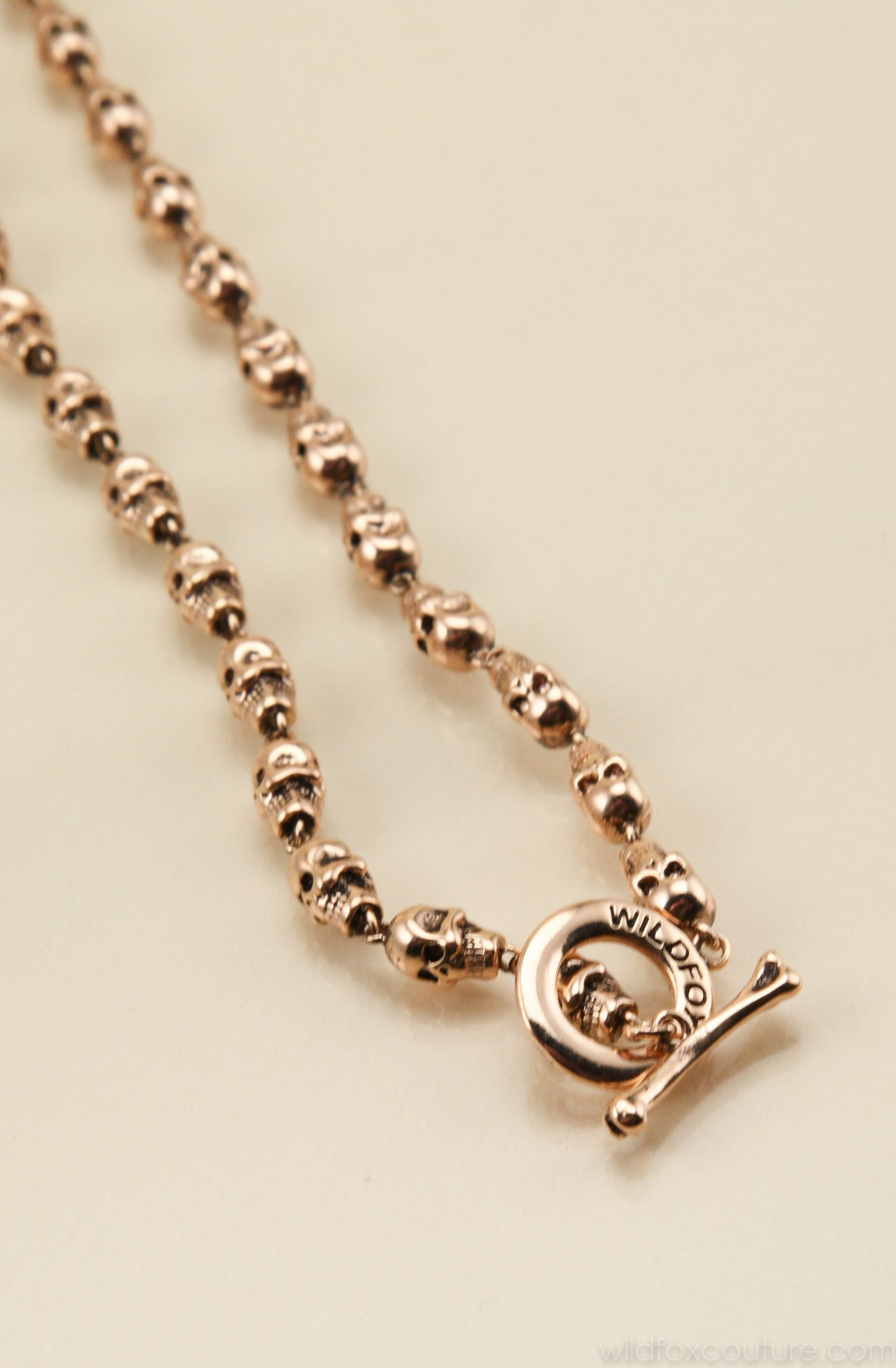 ROSE GOLD MINI SKULL NECKLACE at Wildfox Couture in RGLD