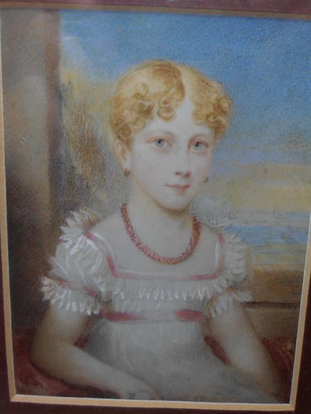 FINE EARLY 1800s PORTRAIT MINIATURE PRETTY GIRL AGED 18 OBITUARY - 35 printable obituary