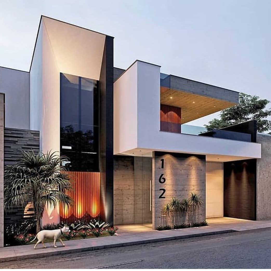 Villa Maison Tres Cubique Avec Des Materiaux Nobles Pierre Verre Architecture Archiad Architecture House House Designs Exterior House Architecture Design