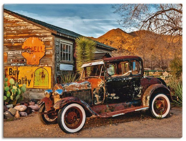 "Photo of Artland Art Print Poster ""Kurt Krause: Oldtimer Route 66 Hackberry"" 