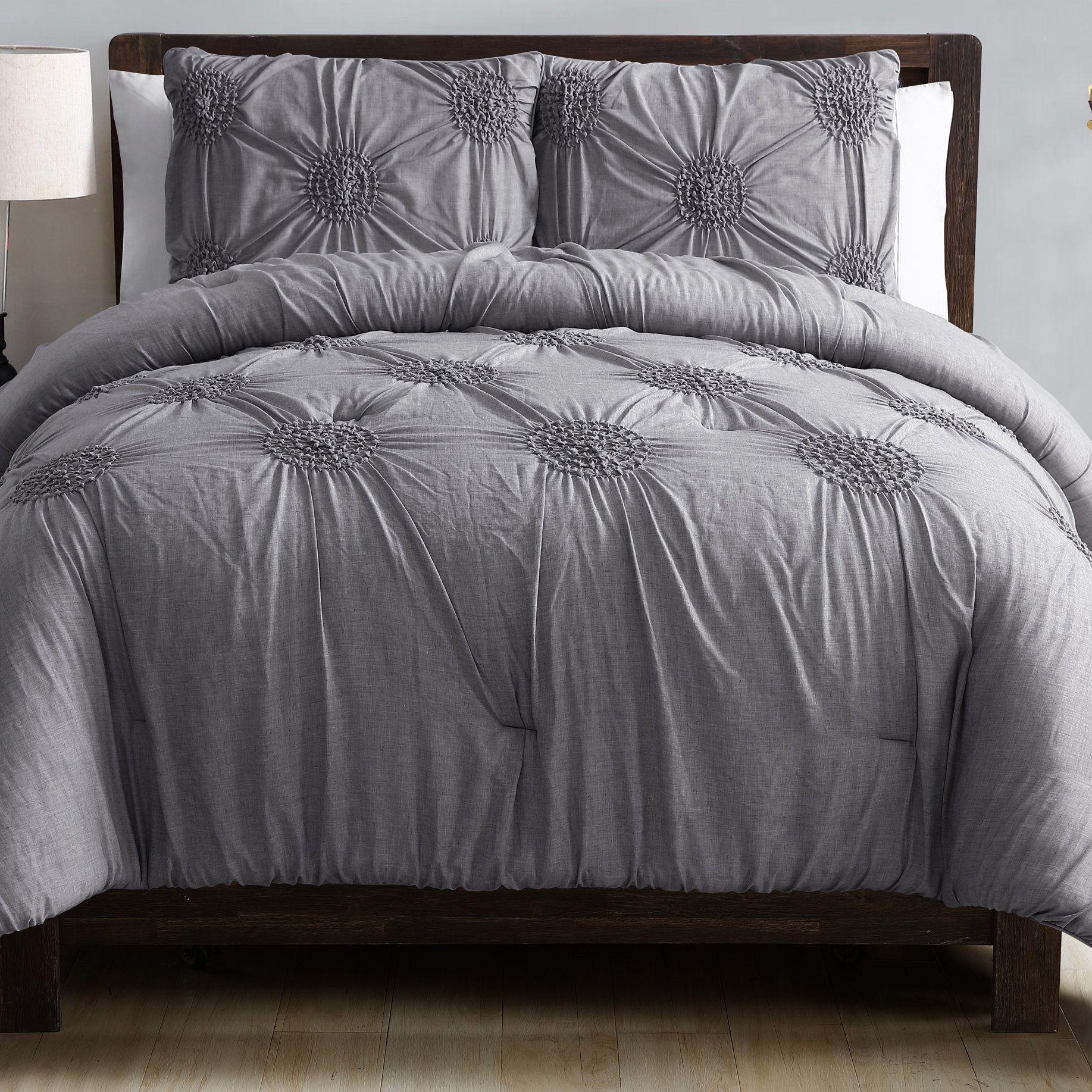 Goodwin 3 Piece Comforter Set Bedding Sets Comforter Sets Contemporary Bed