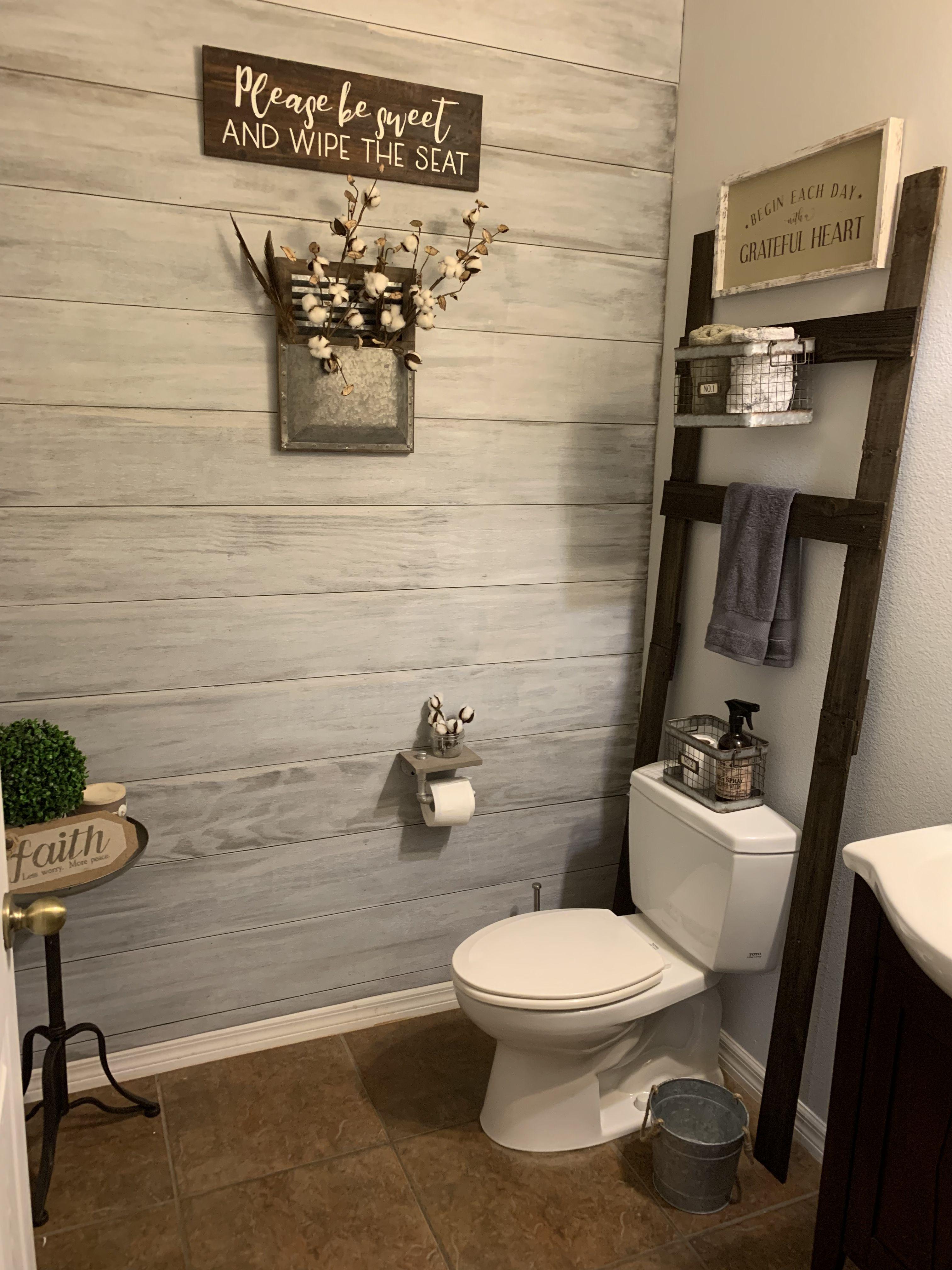 Pin On Shiplap Walls Half bathroom design ideas