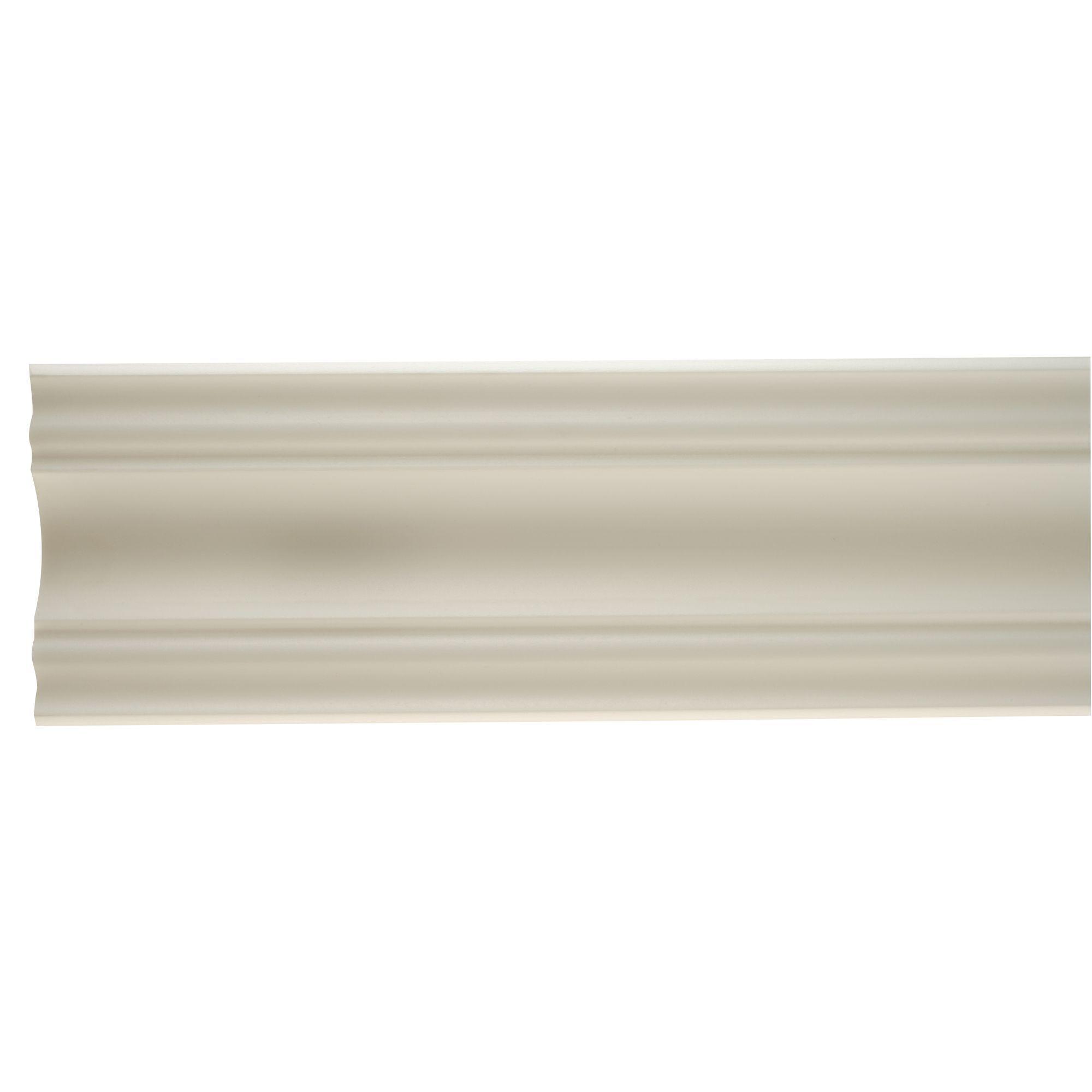 colours polystyrene white coving l 2m pack of 6. Black Bedroom Furniture Sets. Home Design Ideas