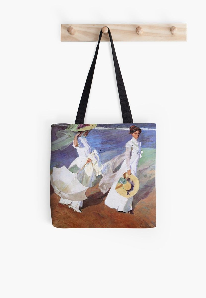 Joaquin Sorolla Women Walking On The Beach Impressionist Painting Tote Bag Painted Tote Printed Tote Bags Joaquin Sorolla