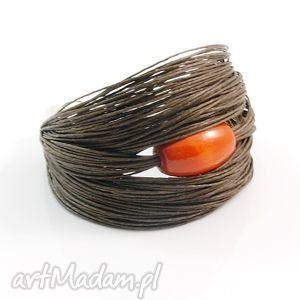 bracelets bracelet linen ore olive - sii, flax, wood jewelry