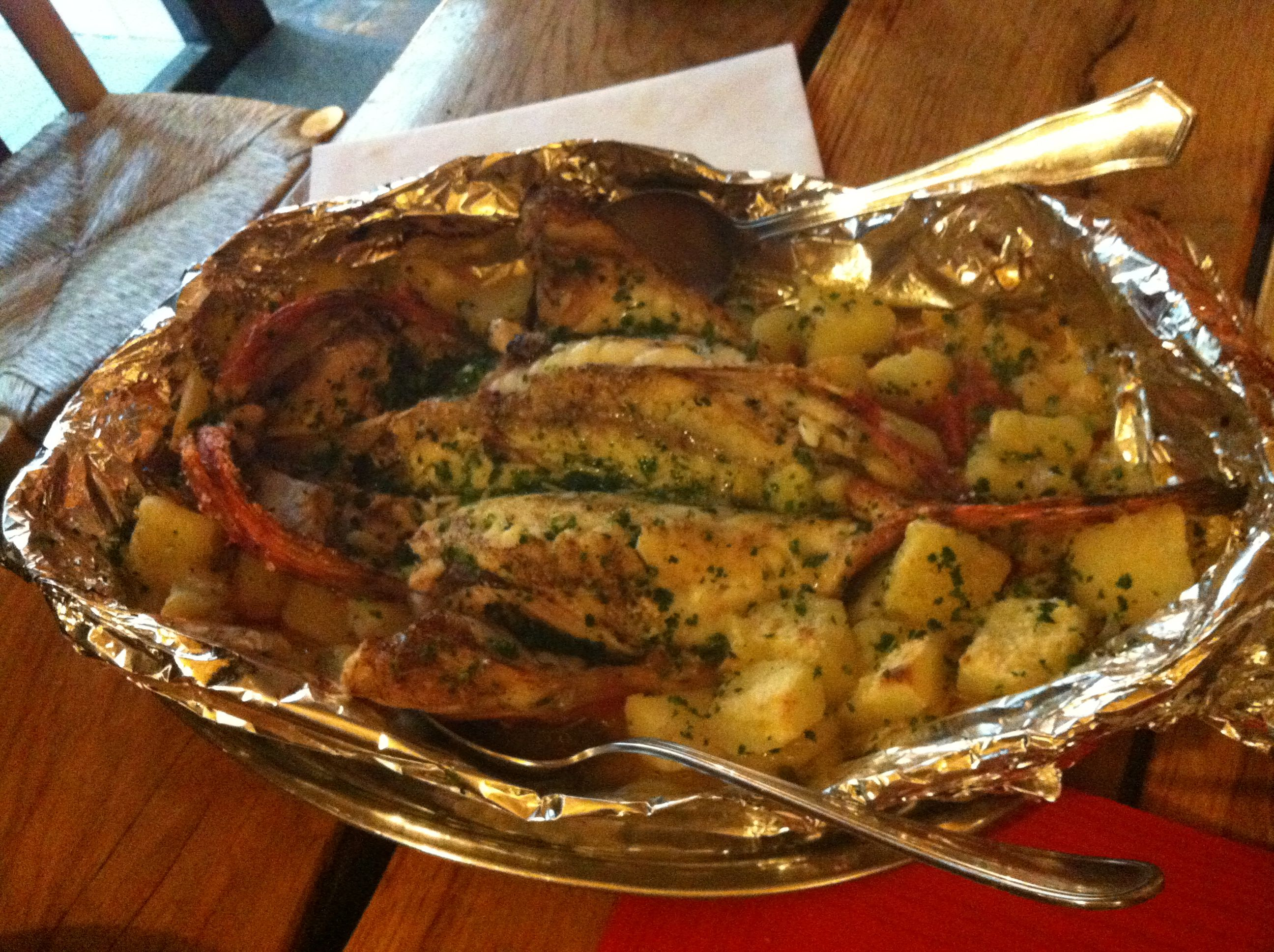 Cabracho al horno de le a casa juanita restaurantes pinterest - Restaurant casa juanita ...