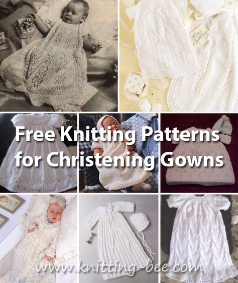 Free Knitting Patterns For Christening Gowns Baby Kleren