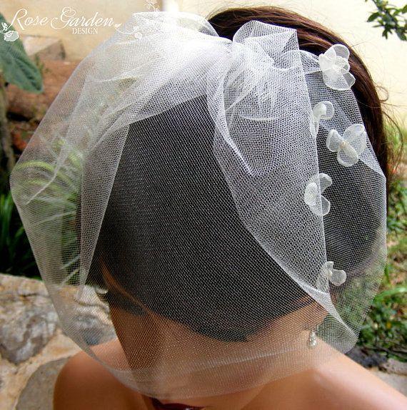 Voile Birdcage voile de mariée voile de cage à par RoseGardenDesign, $24.90