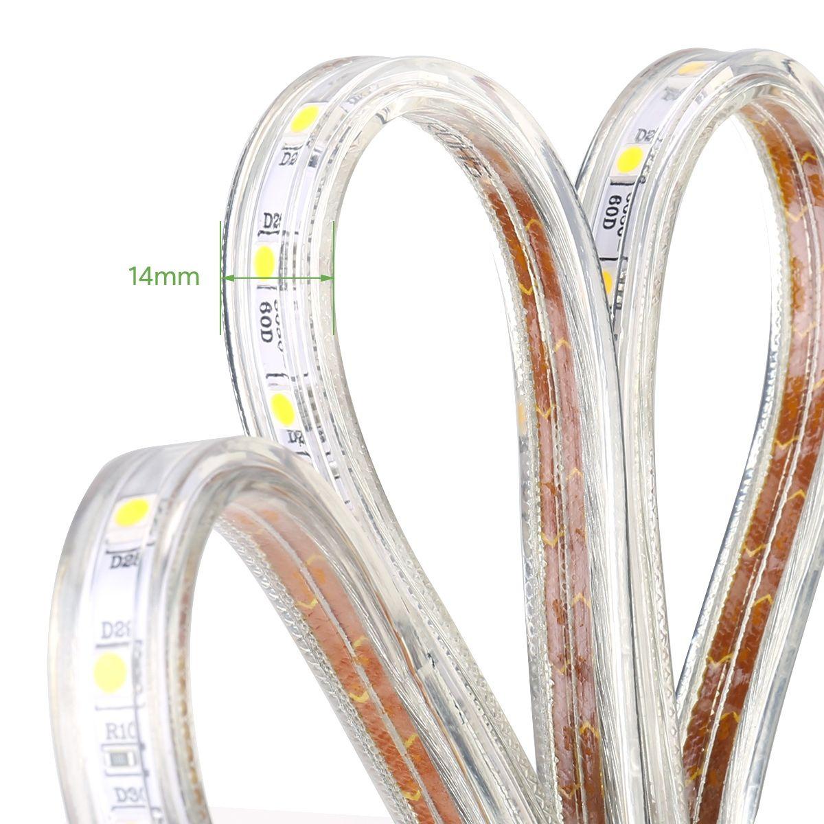 Le 49ft Led Strip Lights 120 Volt 115w 900 Smd 5050 Leds Waterproof Flexible Daylight White Etl Listed Indoor Outdoor Led Rope Lights Strip Lighting Led Curtain Lights