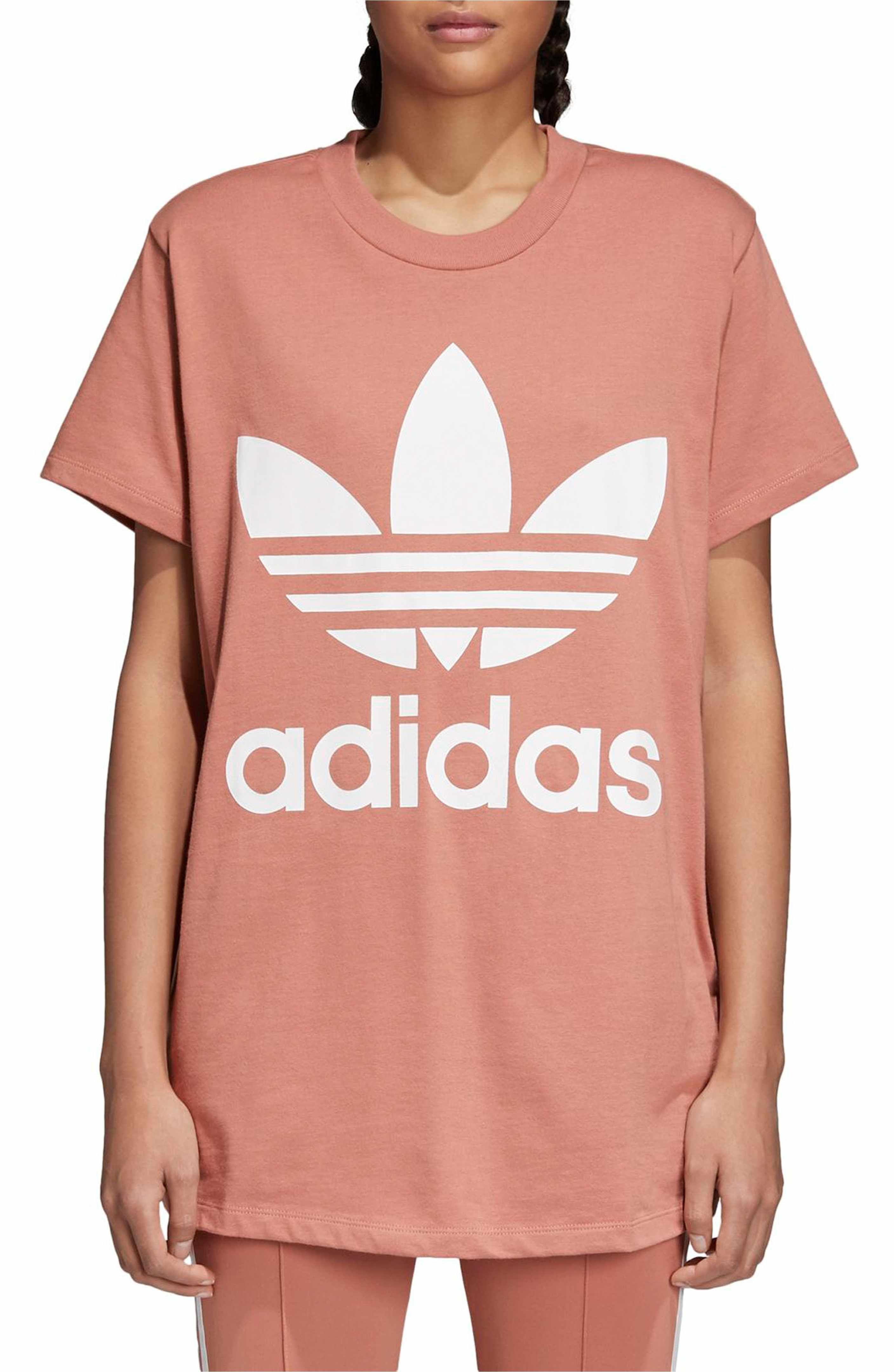adidas Originals Trefoil Logo Tee | Womens workout outfits