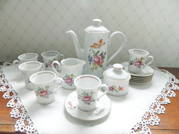 Vintage Graf von Helleberg Floral Tea Set by BlueHeronBungalow, $68.99