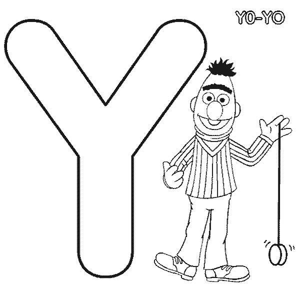 Letter Y Is For Yoyo Coloring Pages Paginas Para Colorear Del