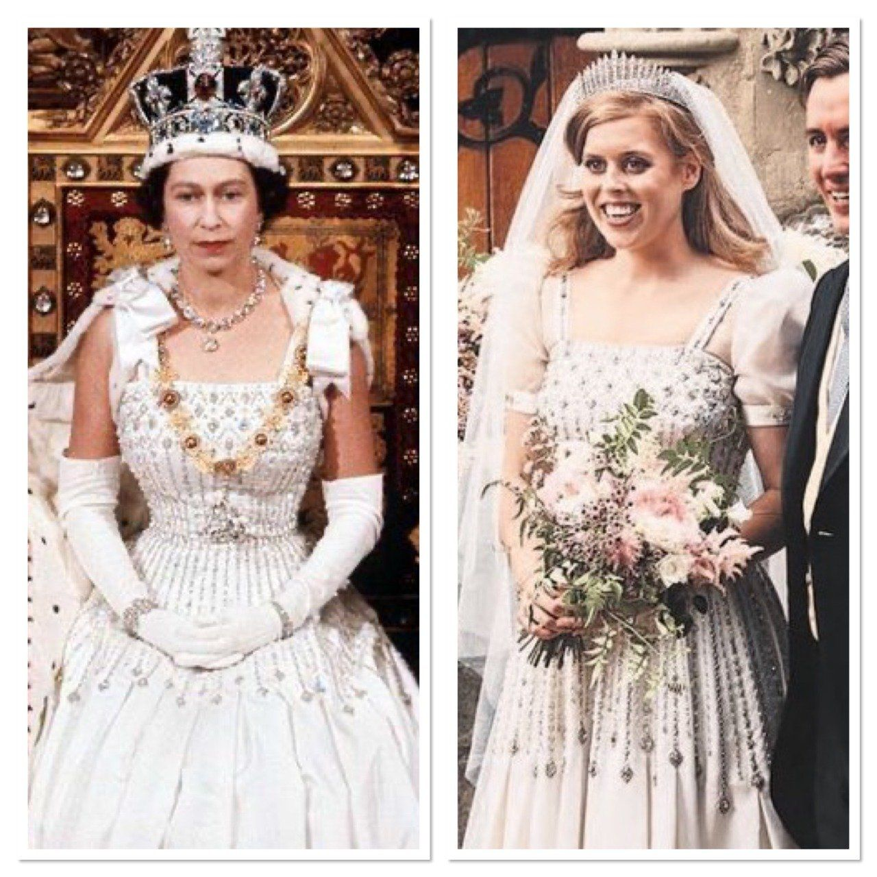 The wedding of Princess Beatrice. She wore a vintage dress