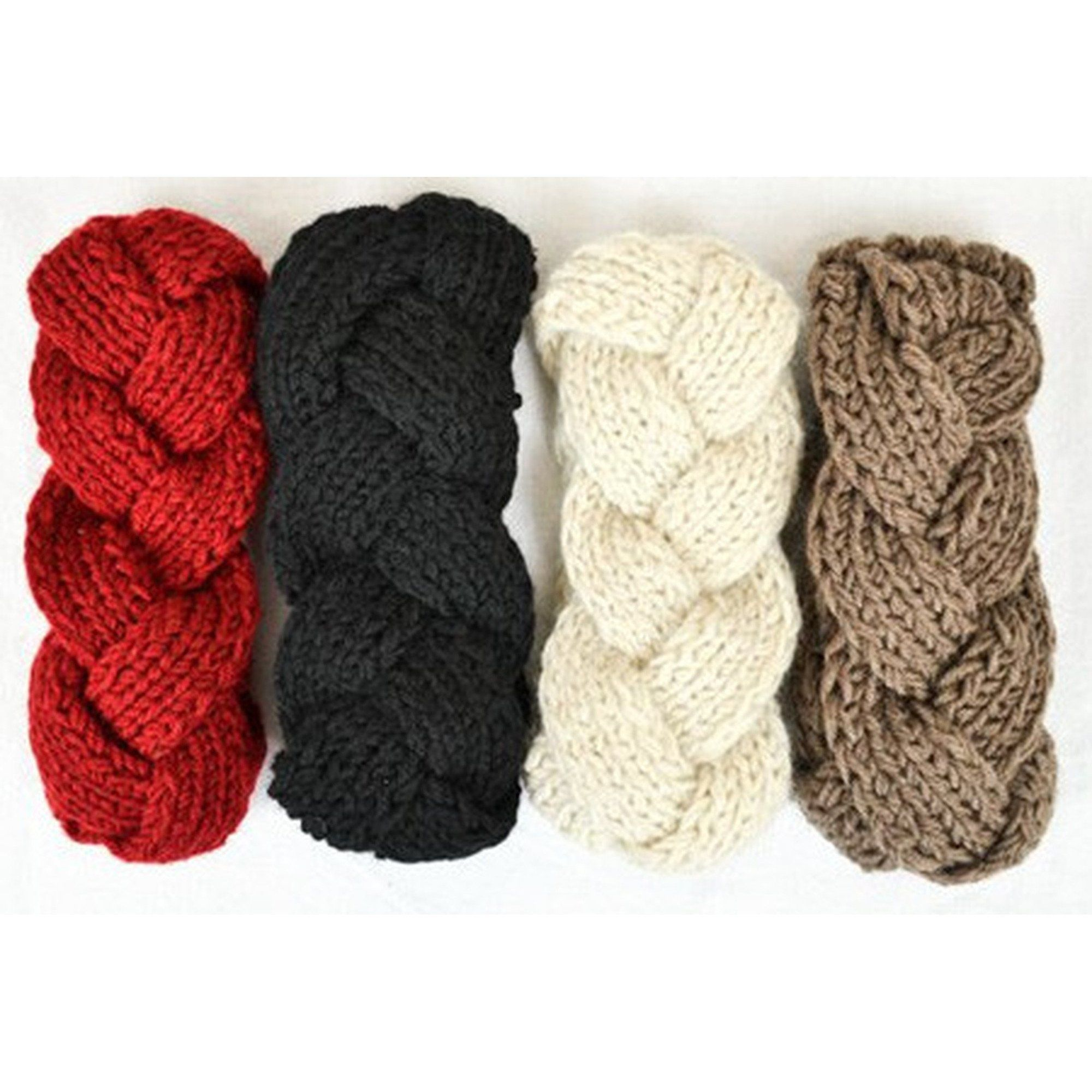 Braided Sweater Headband Red  Products