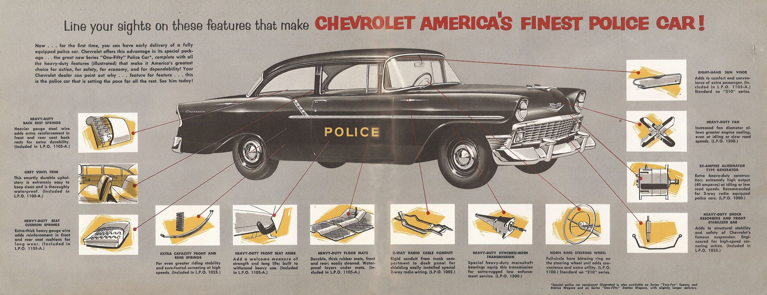 1956 Chevrolet Police Cars Chrome My Favorite Color Pinterest Chevy Generator Wiring