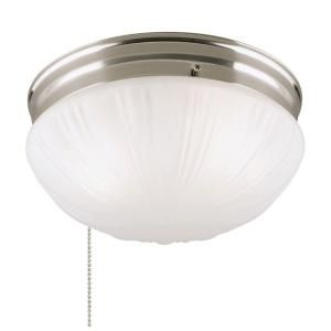 Westinghouse 2 Light Brushed Nickel Flush Mount Interior With Pull