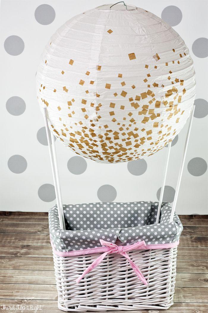 Hot Air Balloon Gift Basket : balloon, basket, Balloon, Basket, Shower, Baskets,