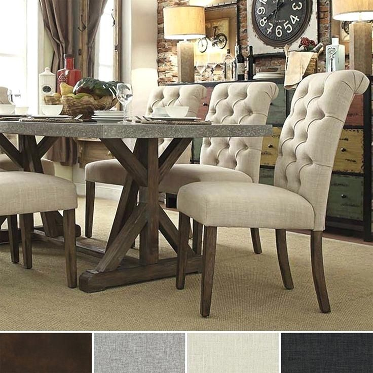 Upholstered Dining Room Chairs Wonderful Tufted