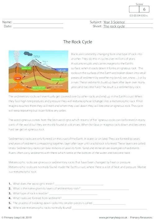 Volcano Reading Comprehension Worksheets Prehension ...