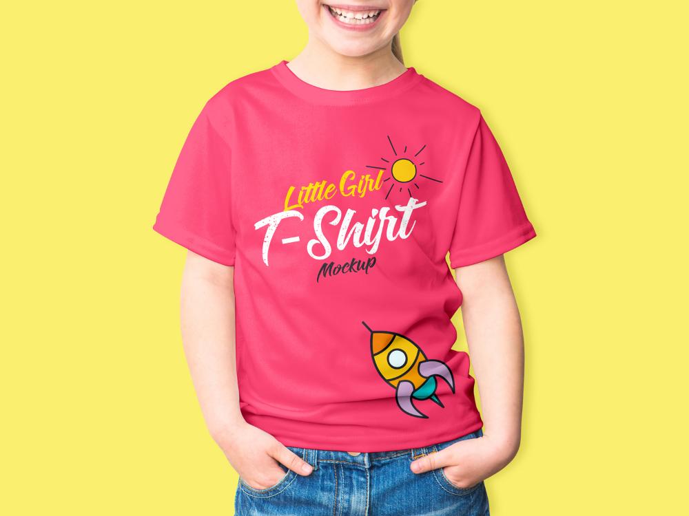 Download Free Little Girl T Shirt Mockup Psd 2018free Mockup Zone Shirt Mockup Girls Tshirts Tshirt Mockup