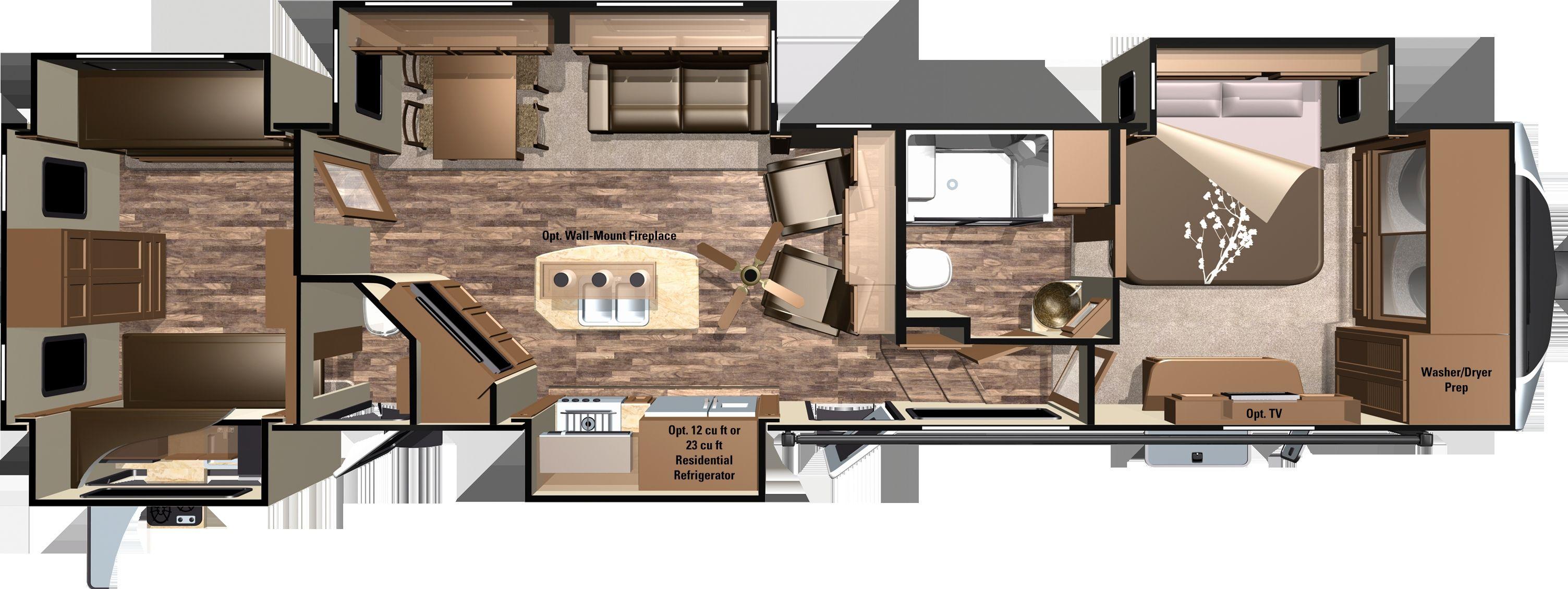 Planos De Piso De Reboque De Viagem Impressionantes Planos De Piso De Reboque De Viagem De 2 Quartos Rv Floor Plans Travel Trailer Floor Plans Camper Flooring
