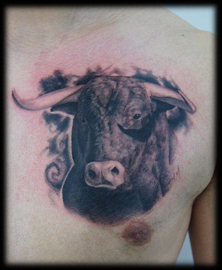 Taurus Tattoos Designs Ideas And Meaning: Bulls/Bison Tattoo Ideas
