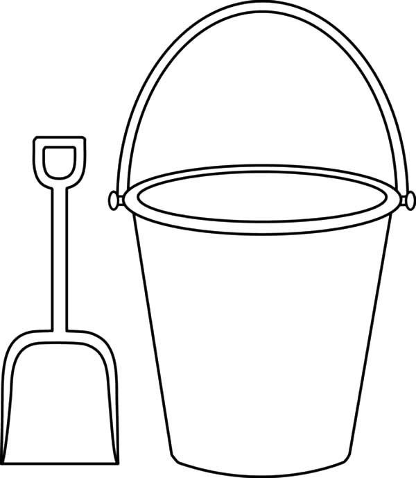 Sand Bucket And Pail Coloring Pages Sketch Coloring Page Sand Buckets Beach Bucket Bucket Drawing