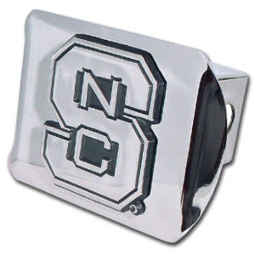 NC State Wolfpack Enhanced Chrome Block S Hitch Cover