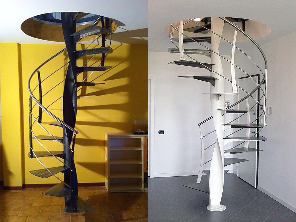 www.escalier-mobilier.com Escalier hélicoïdal avec un fût ...