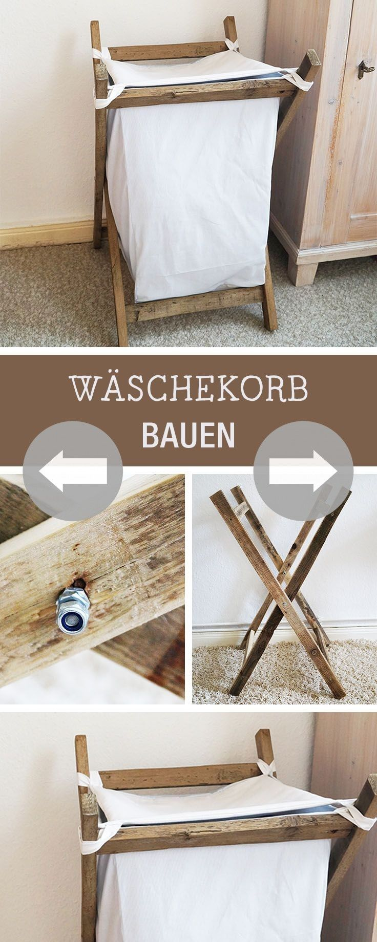 Wohnkultur design bilder diy instructions homemade laundry basket rustic home decor  diy