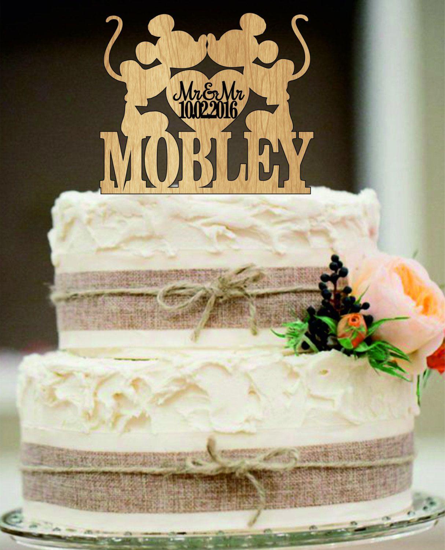 Mickey and mickey cake topper gay wedding cake topper same sex custom wedding cake toppers junglespirit Choice Image