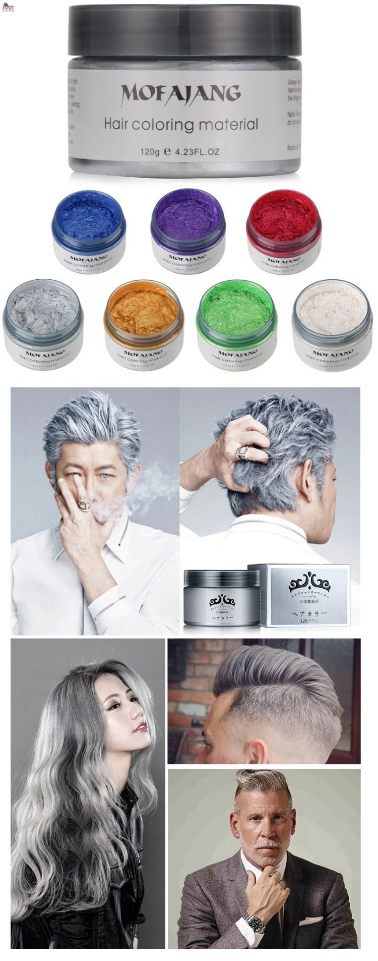 Hair Wax With Color Hair Wax Silver Hair Silver Hair Color