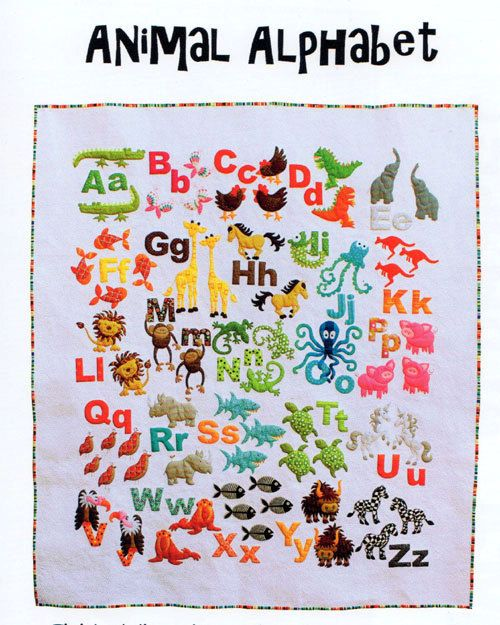 Animal alphabet applique quilt pattern by dont look now by kellie animal alphabet applique quilt pattern by dont look now by kellie wulfsohn 1850 spiritdancerdesigns Images