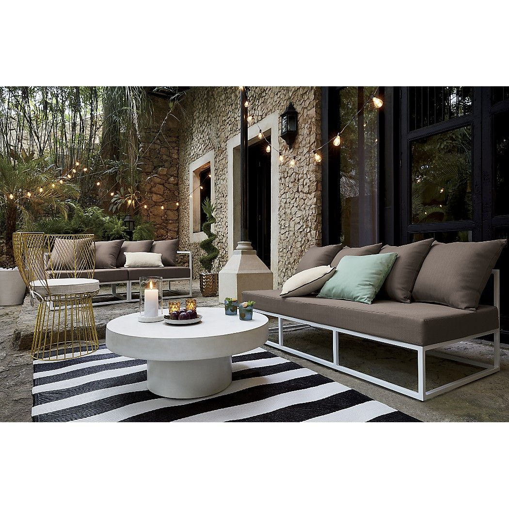 Shop Shroom Coffee Table Cylindrical Aggregate Of Marble Granite Stone And Natural Fibers Cements A Outdoor Loveseat Outdoor Living Space Patio Furniture