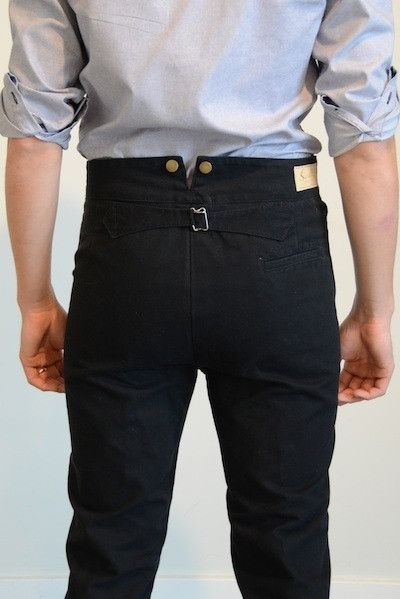Old West Canvas Frontier Trousers