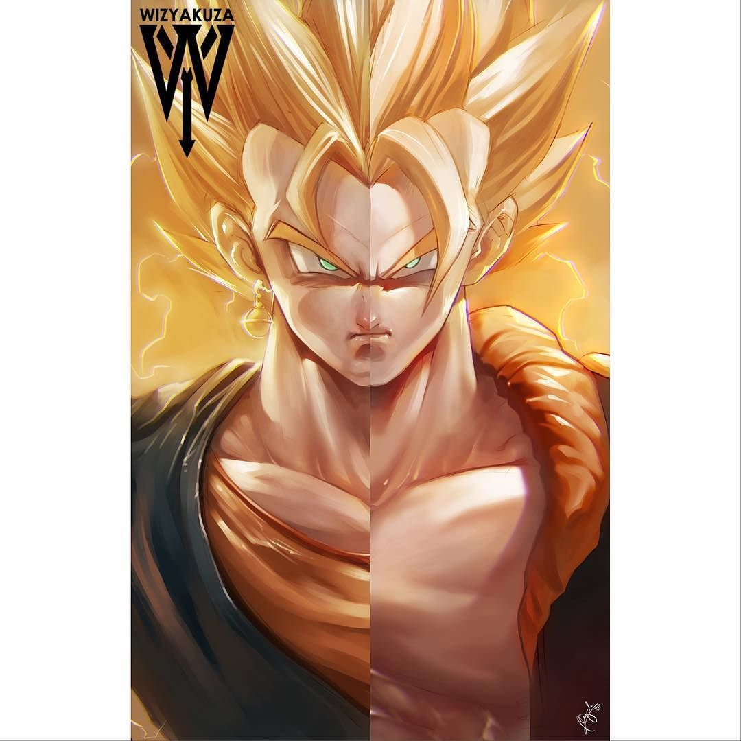 Goku Art Split Vegeta Vs