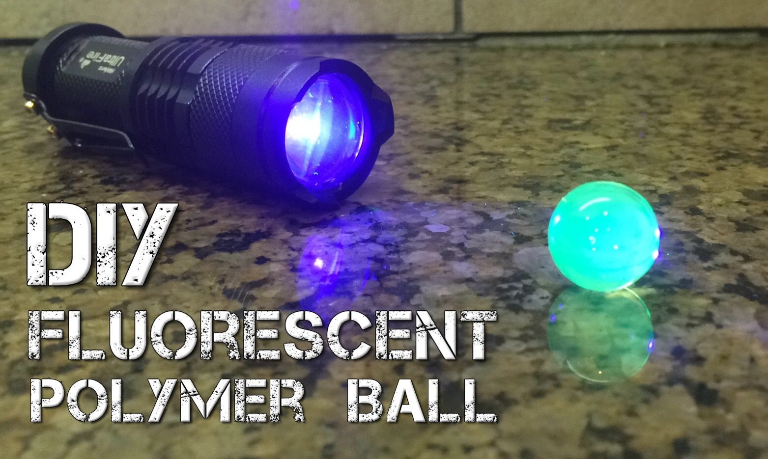 Uv Reactive Fluorescent Polymer Ball Polymer Fluorescent Cool Science Projects