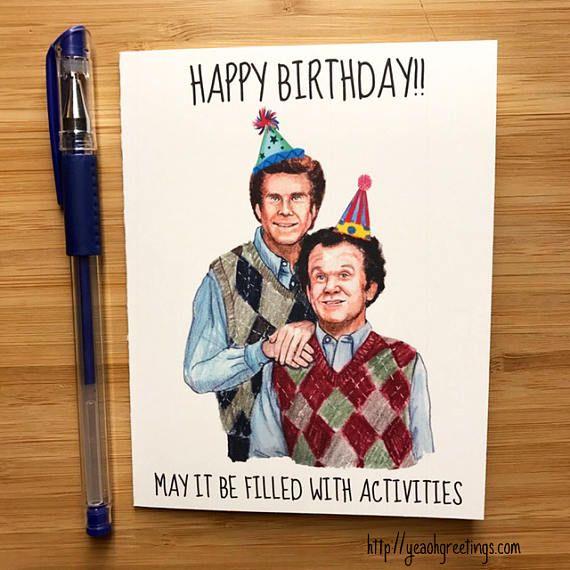Step Brothers Birthday Card Funny Birthday Card Step