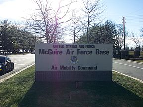 McGuire AFB Main Gate Entrance