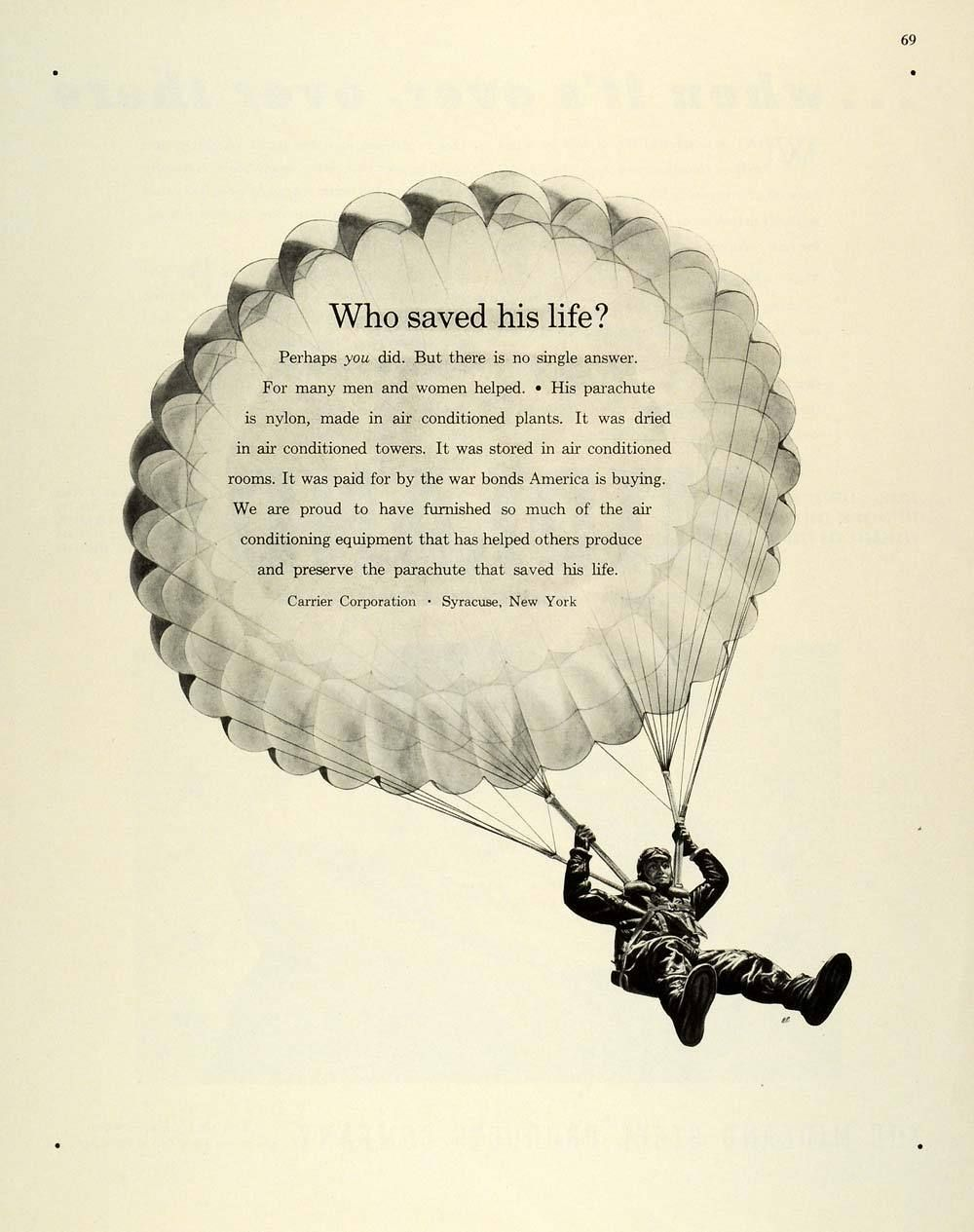 1944 Carrier Ad Ads Air Conditioning Carriers
