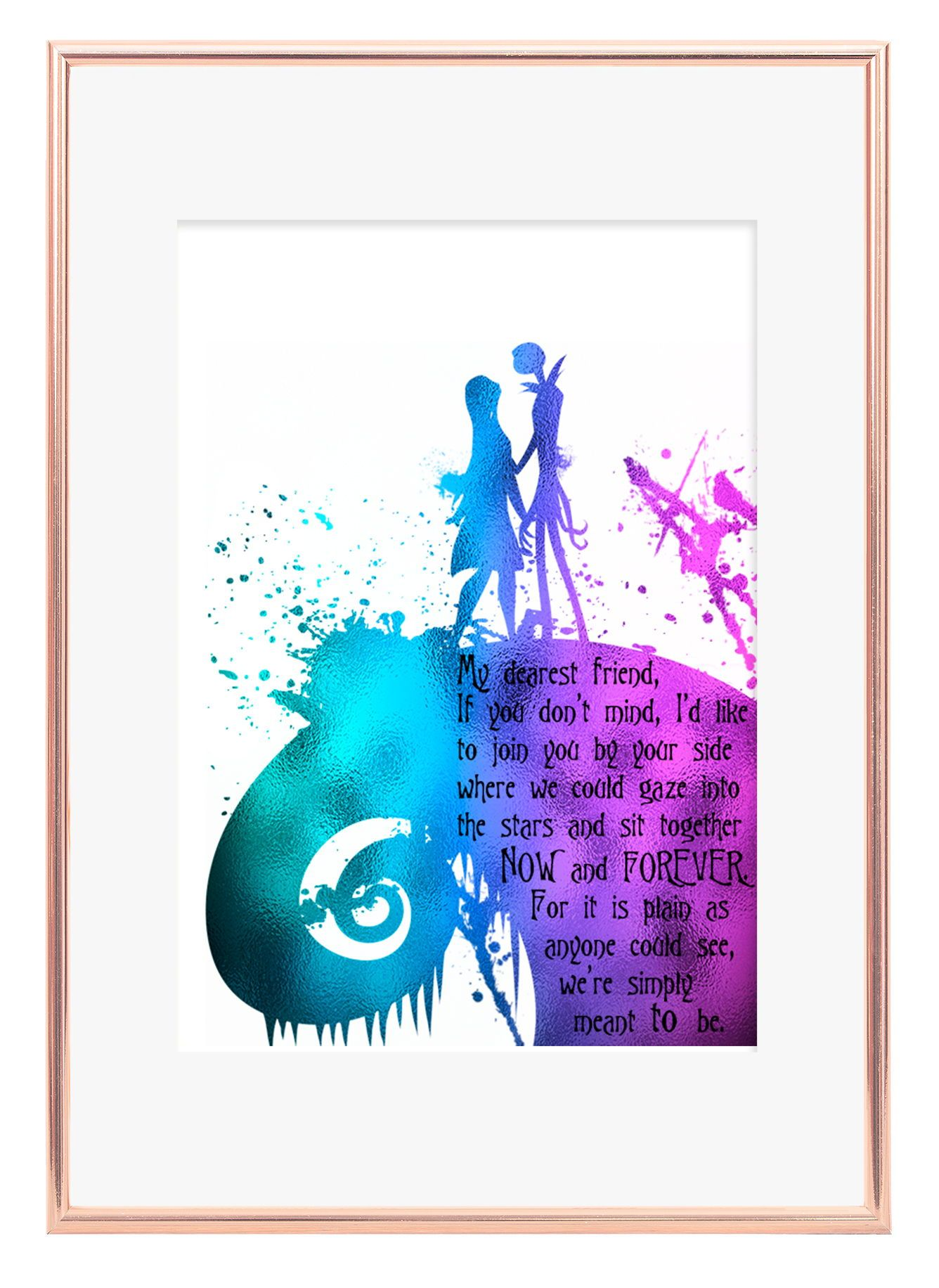 Nightmare Before Christmas, Jack and Sally, Quote Print, Quote Wall ...